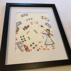 Alice and wonderland framed print
